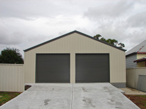 Double Garage - Evening Haze and Woodland Grey